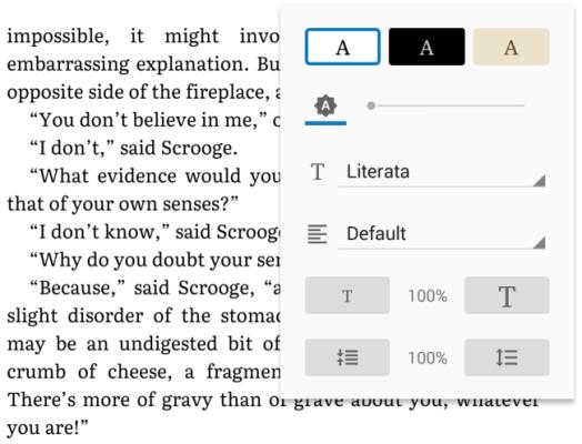 Contoh Penggunaan Font Literata
