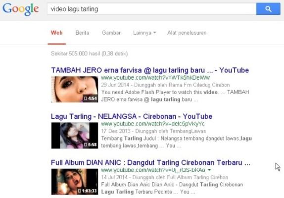 pencarian video google