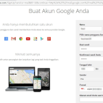 panduan pengisian Informasi akun google