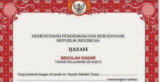 juknis penulisan ijasah 2015