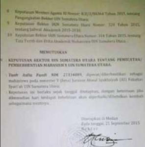 surat pemberhentian sebagai mahasiswa