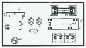 Rangkaian Lampu Tidur Otomatis Menggunakan Sensor Cahaya LDR