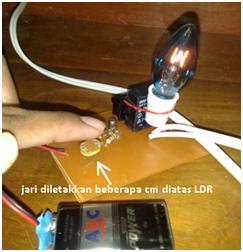 ujicoba rangkaian lampu otomatis