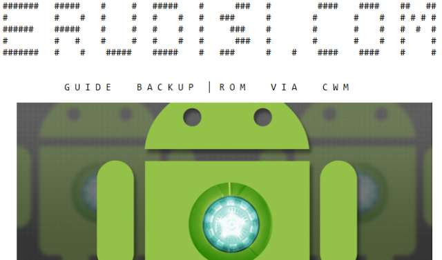 Cara Backup ROM via CWM
