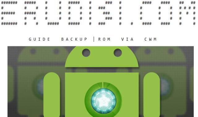 Cara Backup ROM via CWM