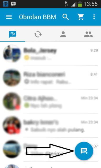 Chat di BBM tanpa Invite Pin