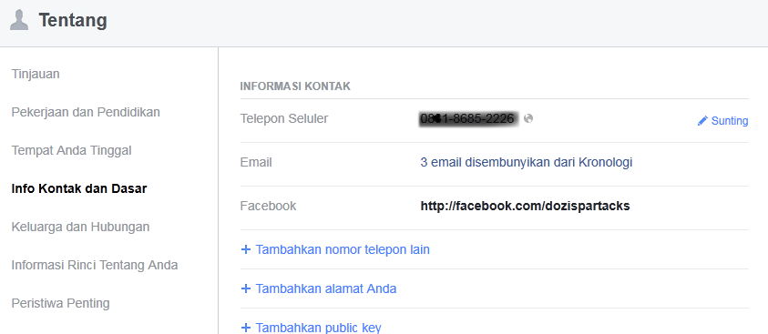 Kontak Facebook
